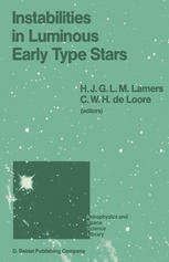 Instabilities in Luminous Early Type Stars: Proceedings of a Workshop in Honour of Professor Cees De Jager on the Occasion of his 65th Birthday held i