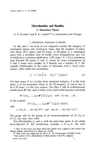 Inventiones Mathematicae Volume 1, 1966