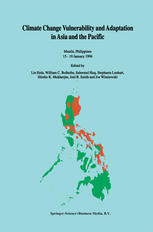 Climate Change Vulnerability and Adaptation in Asia and the Pacific: Manila, Philippines, 15–19 January 1996