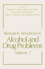 Research Advances in Alcohol and Drug Problems: Volume 7