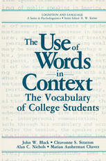 The Use of Words in Context: The Vocabulary of Collage Students