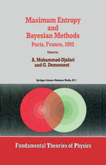 Maximum Entropy and Bayesian Methods: Paris, France, 1992