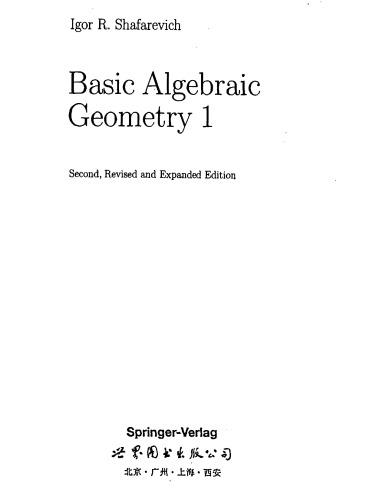 Basic Algebraic Geometry 1 - Vars. in Projective Space