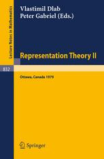 Representation Theory II: Proceedings of the Second International Conference on Representations of Algebras Ottawa, Carleton University, August 13 – 2