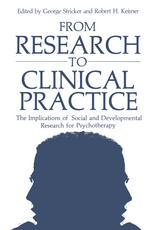 From Research to Clinical Practice: The Implications of Social and Developmental Research for Psychotherapy