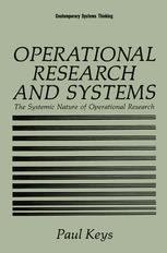 Operational Research and Systems: The Systemic Nature of Operational Research