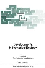 Develoments in Numerical Ecology