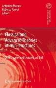 Classical and advanced theories of thin structures: mechanical and mathematical aspects