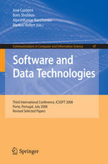 Software and Data Technologies: Third International Conference, ICSOFT 2008, Porto, Portugal, July 22-24, 2008, Revised Selected Papers