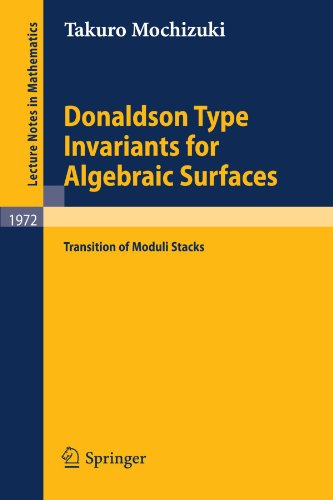 Donaldson type invariants for algebraic surfaces: Transition of moduli stacks