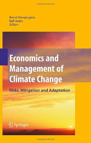 economics and mana ent of climate change risks, mitigation and adaptation