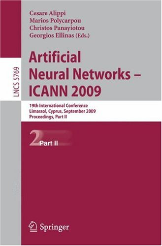 Artificial Neural Networks – ICANN 2009: 19th International Conference, Limassol, Cyprus, September 14-17, 2009, Proceedings, Part II