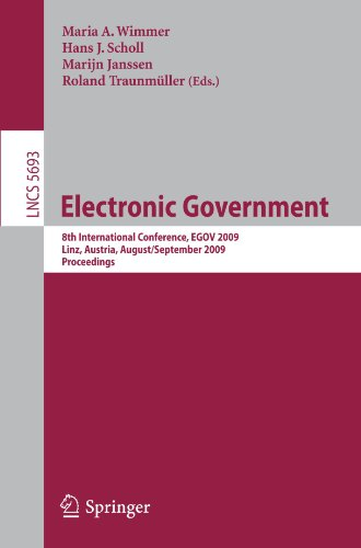 Electronic Government: 8th International Conference, EGOV 2009, Linz, Austria, August 31 - September 3, 2009. Proceedings