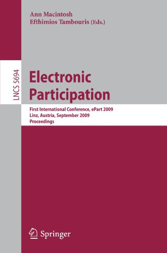 Electronic Participation: First International Conference, ePart 2009 Linz, Austria, September 1-3, 2009 Proceedings