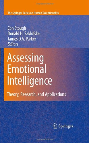 Assessing Emotional Intelligence: Theory, Research, and Applications