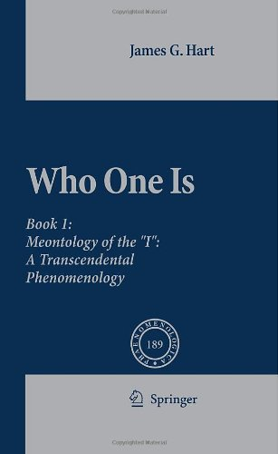 "Who One Is: Meontology of the ""I"": A Transcendental Phenomenology"