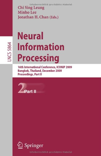 Neural Information Processing: 16th International Conference, ICONIP 2009, Bangkok, Thailand, December 1-5, 2009, Proceedings, Part II