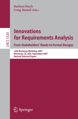 Innovations for Requirement Analysis. From Stakeholders' Needs to Formal Designs: 14th Monterey Workshop 2007, Monterey, CA, USA, September 10-13, 200
