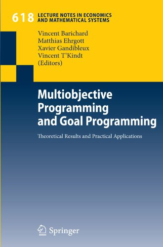 Multiobjective programming and goal programming: Theoretical results and practical applications