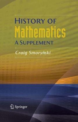 History of mathematics. A supplement