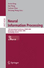 Neural Information Processing: 13th International Conference, ICONIP 2006, Hong Kong, China, October 3-6, 2006. Proceedings, Part III