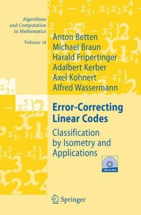 Error-Correcting Linear Codes: Classification by Isometry and Applications