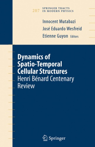 Dynamics of spatio-temporal cellular structures
