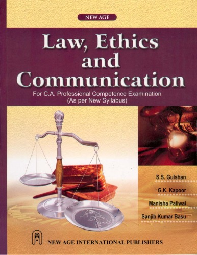 Law, Ethics and Communication for C.A. Professional Competence Examination