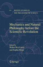 Mechanics and Natural Philosophy Before the Scientific Revolution