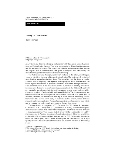 The Astronomy and Astrophysics Review, Volume 13