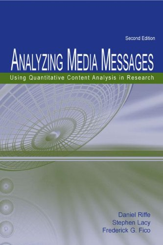 Analyzing Media Messages: Using Quantitative Content Analysis in Research 2nd Edition (Lea Communication Series)
