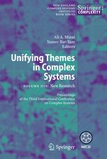 Unifying Themes in Complex Systems: New Research Volume IIIB Proceedings from the Third International Conference on Complex Systems