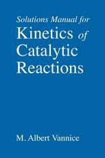 Solutions Manual for Kinetics of Catalytic Reactions