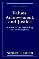 Values, Achievement, and Justice: Studies in the Psychology of Deservingness