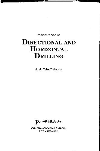 Introduction to Directional and Horizontal Drilling