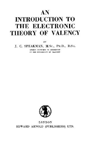An introduction to the electronic theory of valency