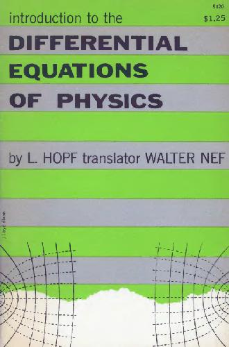 Introduction to the Differential Equations of Physics