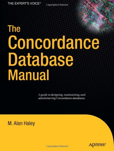 The Concordance Database Manual