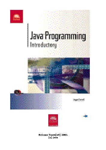 Java Programming -- Introductory
