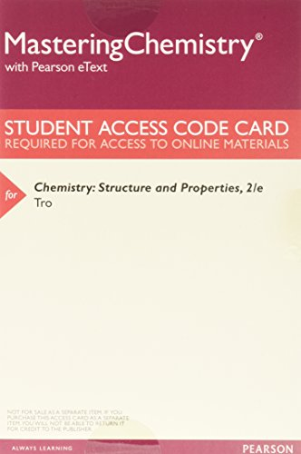 Chemistry: Structure and Properties, Books a la Carte Plus Mastering Chemistry with Pearson eText -- Access Card Package (2nd Edition)