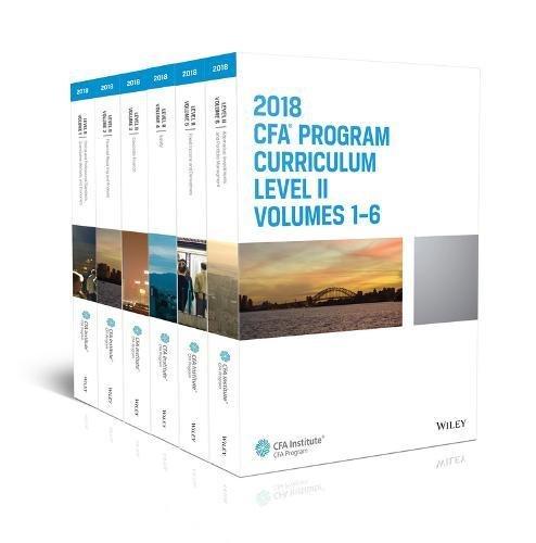CFA Program Curriculum 2018 Level II Volumes 1-6 Box Set