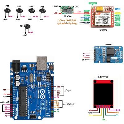 کنترل اتوماتیک وسایل در زمانهای تعیین شده با تایمر و پیامک بوسیله آردوینو و SIM800L
