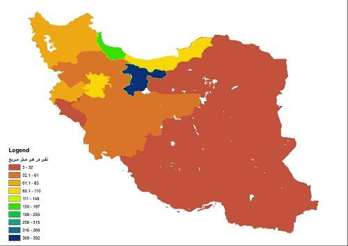 لایه ی شیپ فایل ایران