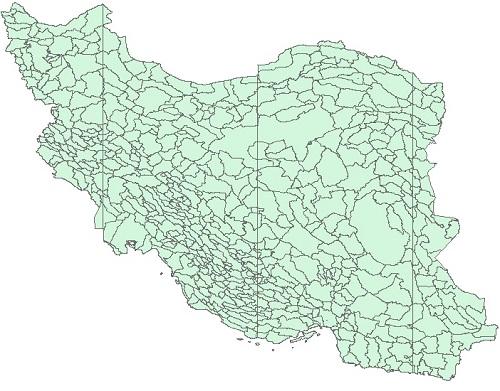 لایه ی زیر حوزه های آبخیز ایران