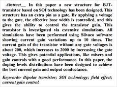 دانلود ترجمه مقاله IEEE در مورد بررسی عددی ناخالصی بیس برای کمترین زمان گذر بیس