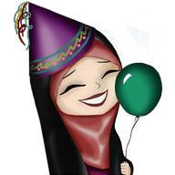 پک آماده ساخت استیکر 20 عددی دختر چادری شماره 3
