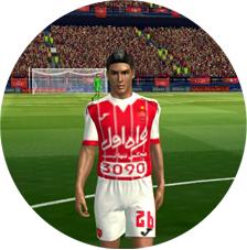 کیت لباس و لوگو پرسپولیس فصل 96_97 برای بازی فوتبال FTS15