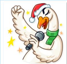دانلود رایگان مجموعه پک  آماده ساخت استیکر 24 عددی غاز کریسمسی