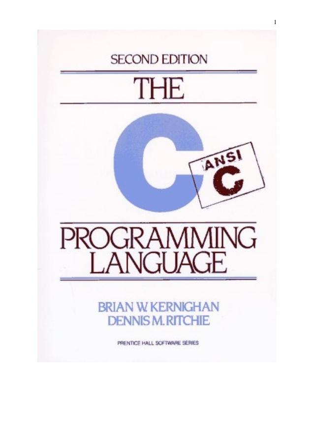 ََANSI-C - آموزش زبان C دنیس ریچی (زبان اصلی)