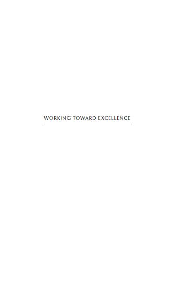 Working toward Excellence (زبان اصلی)